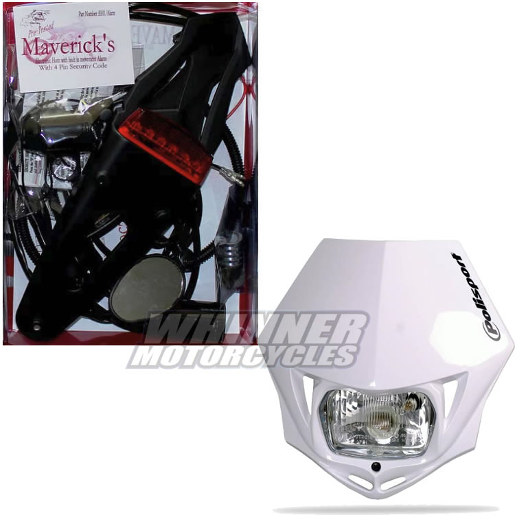 maverick led offroad lighting motorcycle rec reg kit suzuki rmz250 rmz450  non efi